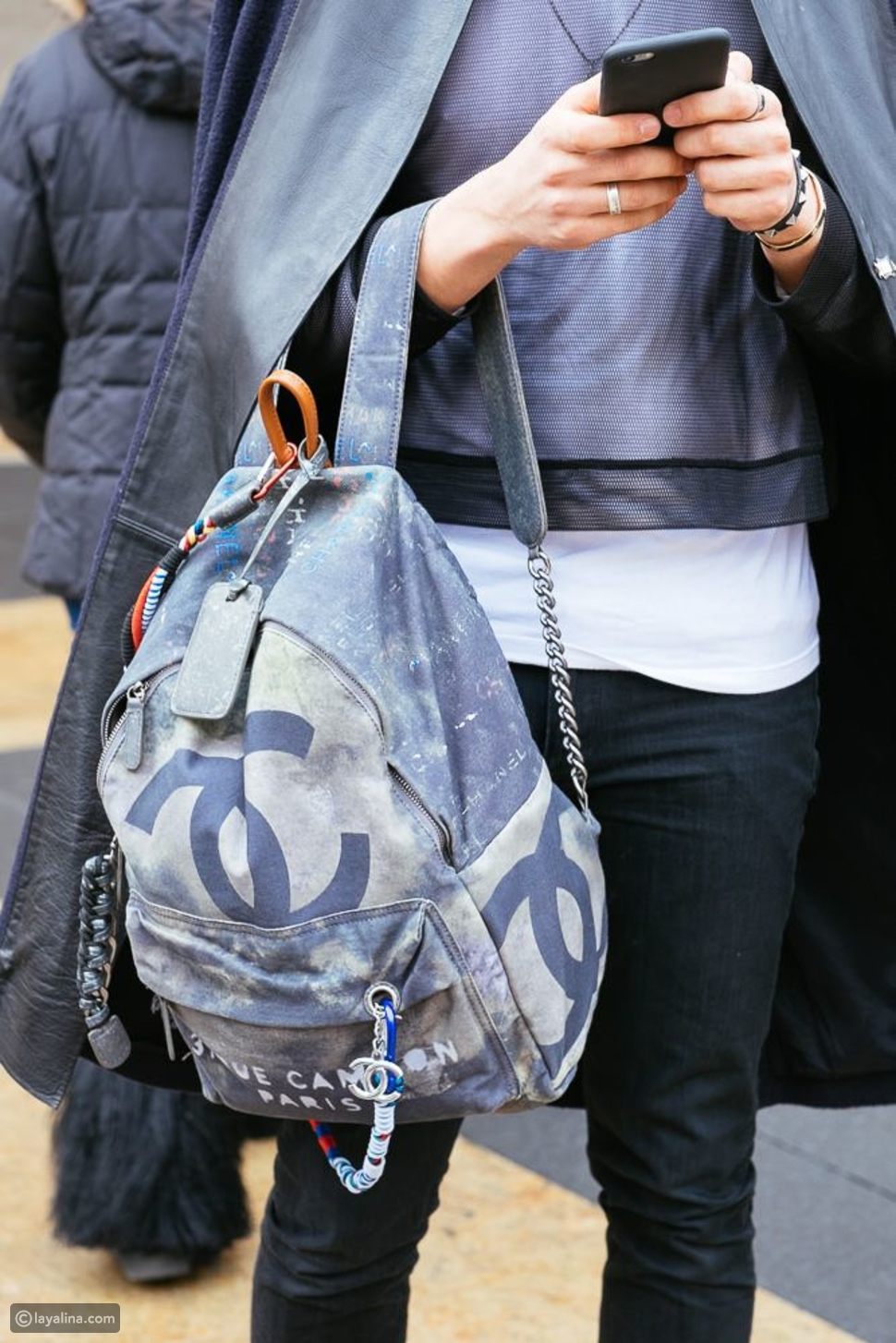 حقيبة شانيل جرافتي Chanel Oh My Boy Graffiti Backpack
